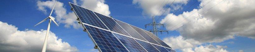 Panneau solaire et éoliènne