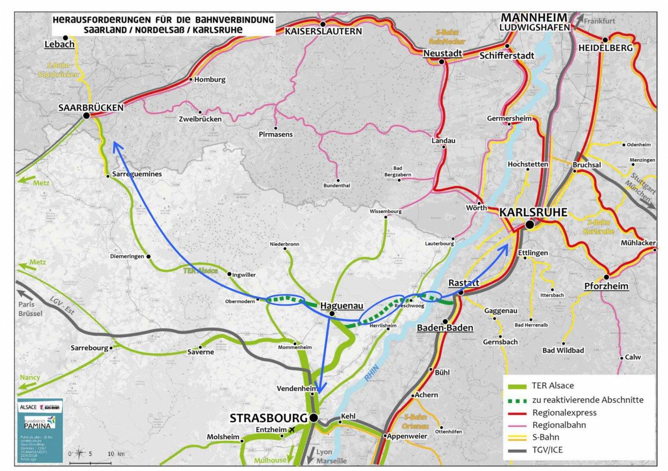 568491890c3 Im Zentrum dieses Mobilitätskonzepts steht die Reaktivierung und  Instandsetzung der Eisenbahnstrecke Karlsruhe-Rastatt-Haguenau-Saarbrücken.