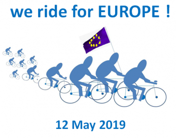 """We ride for Europe"" transfrontalier"