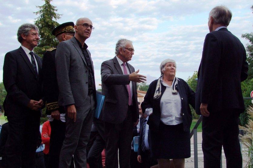 Besuch der Ministerin Jacqueline Gourault beim Eurodistrict