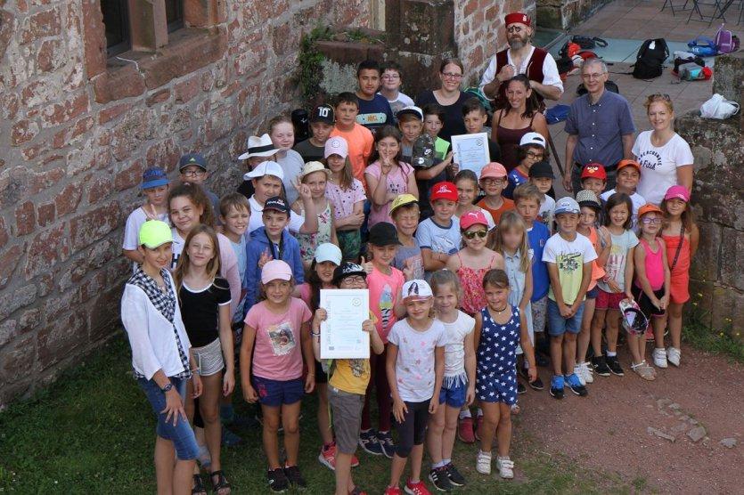 Passe-Partout : les classes gagnantes de Brumath et de Karlsruhe se rencontrent au Château de Lichtenberg